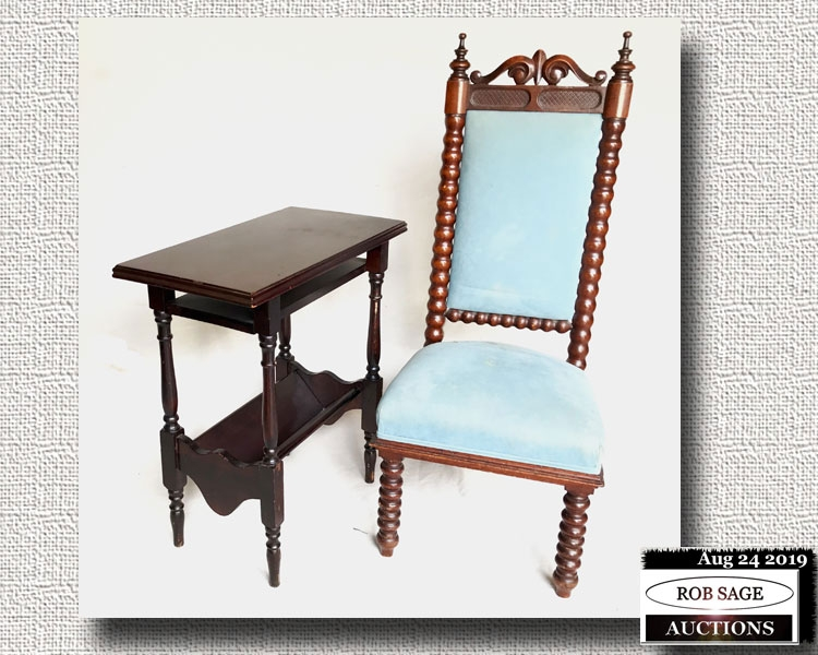 Victorian Chair & Table