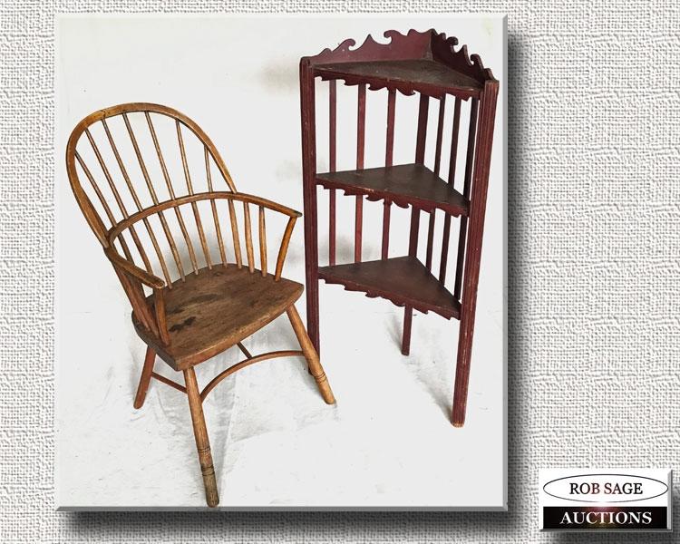 Armchair & Shelf