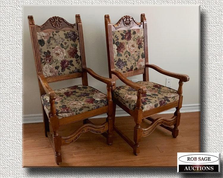 Oak Armchairs