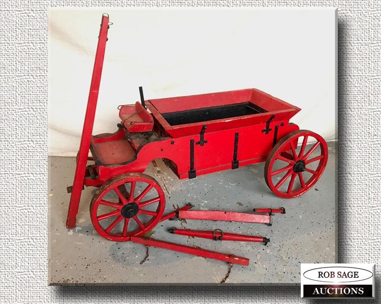 Large Folk Art Wagon