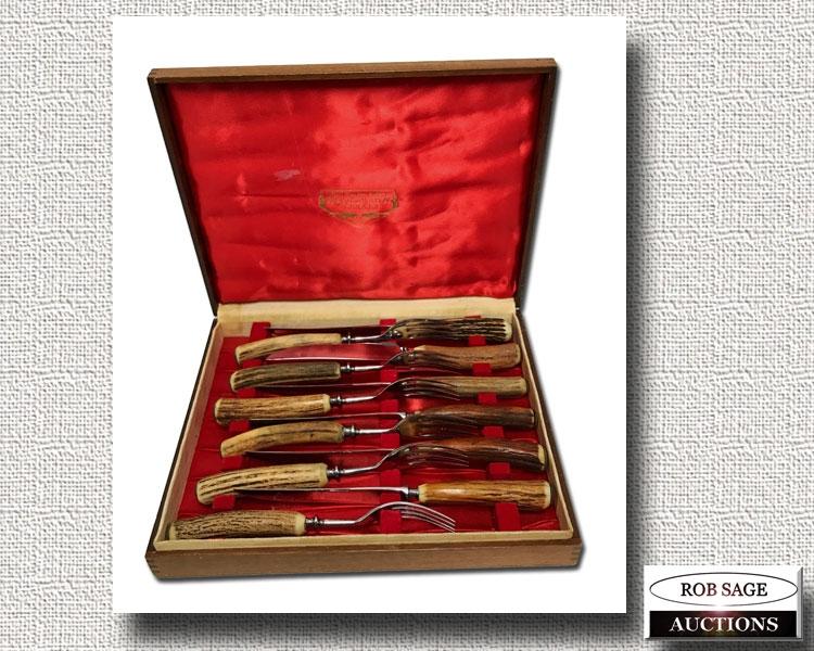 Horn Handle Knife Set