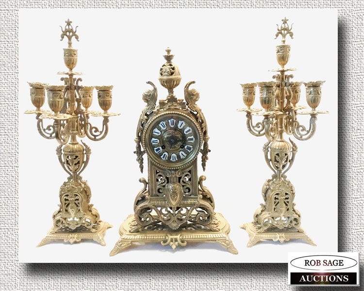 Clock Garniture Set