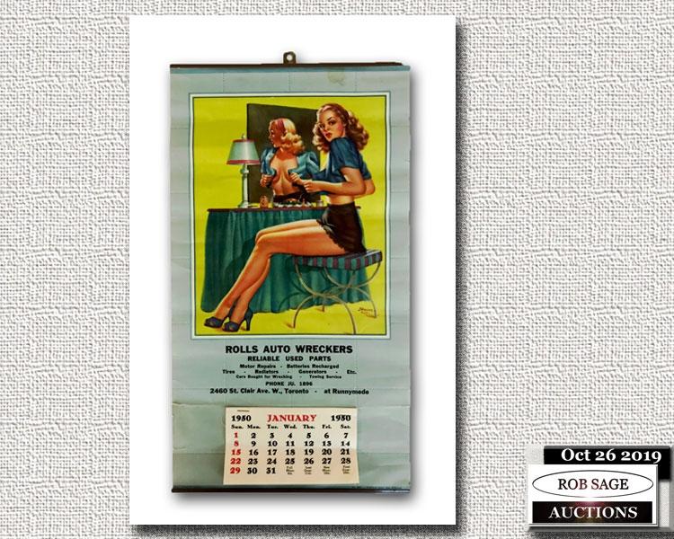 1950 Pinup Calendar
