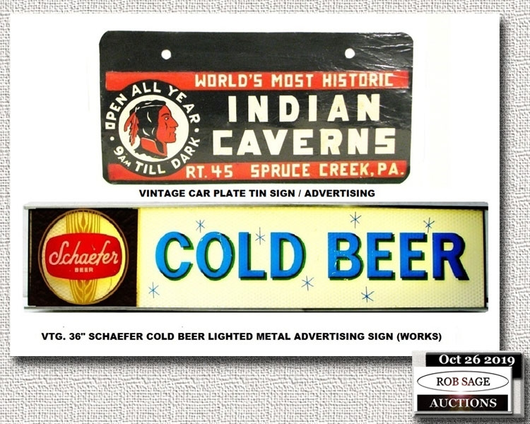 Beer Sign/License Plate