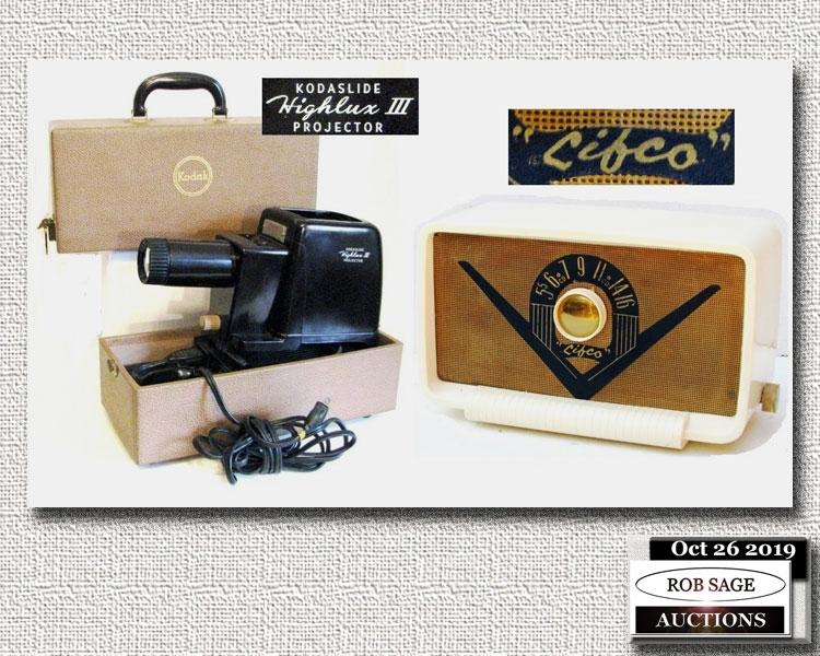 Vintage Projector & Radio