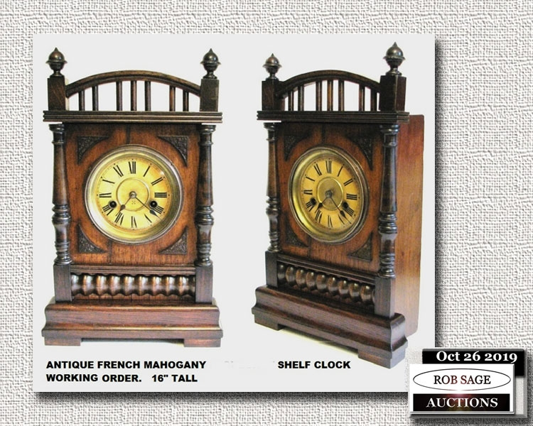 Mahogany Shelf Clock