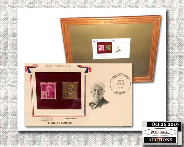Thomas Edison Stamp Set
