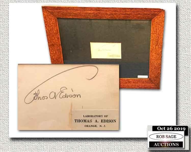 Thomas Edison Autograph
