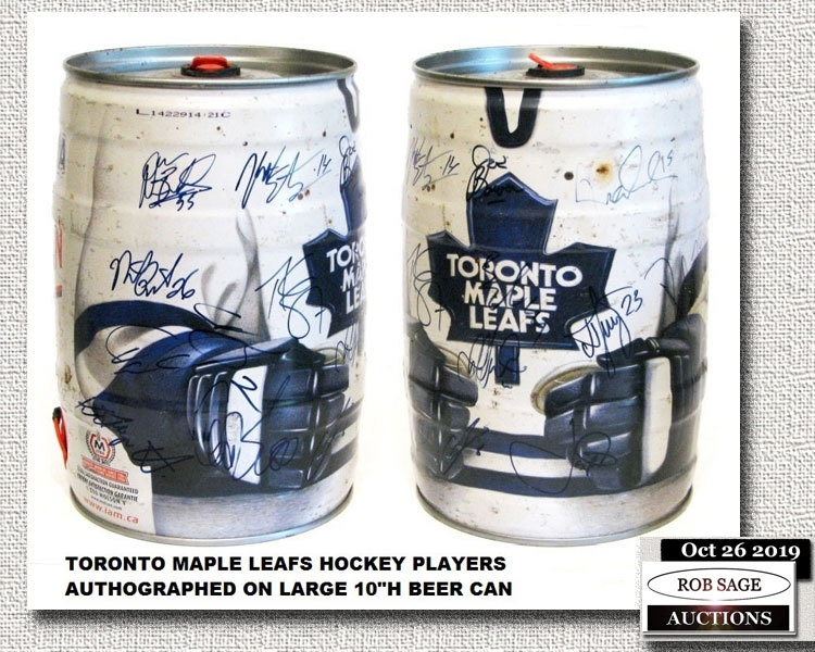 Autographed Beer Can