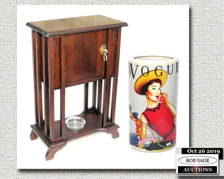 Smoke Stand & Vase