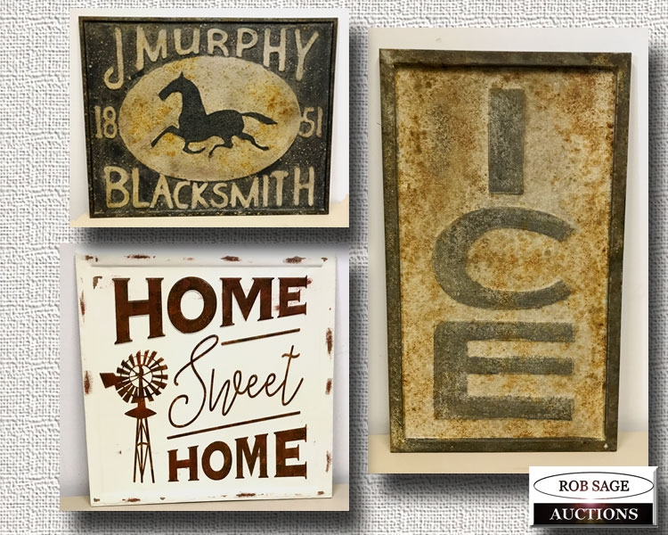 Decorator Tin Signs
