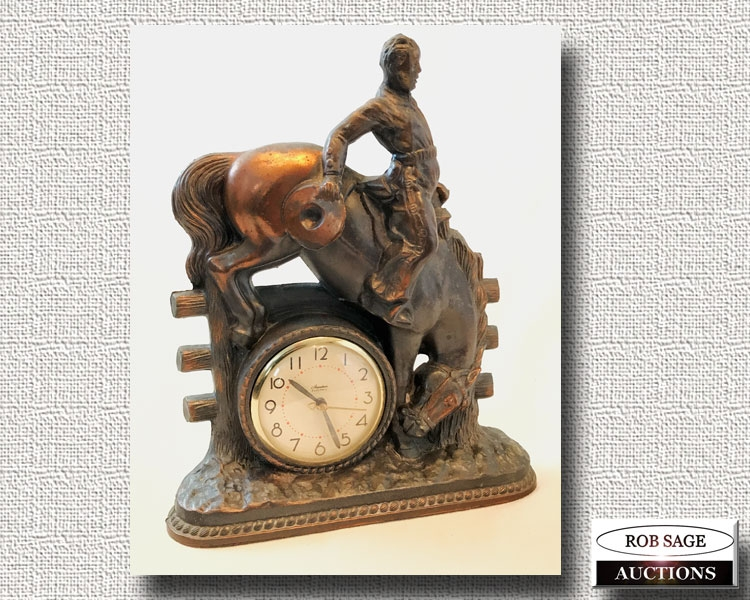 Metal Figural Clock