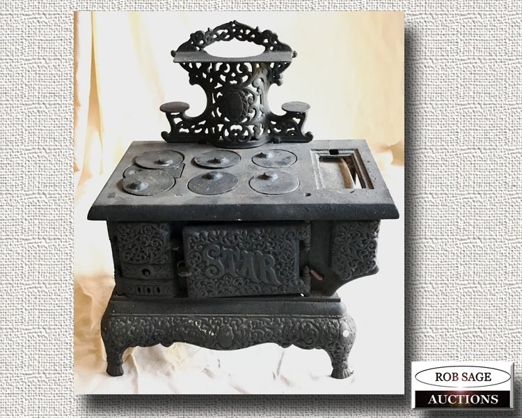 Large Cast Toy Stove