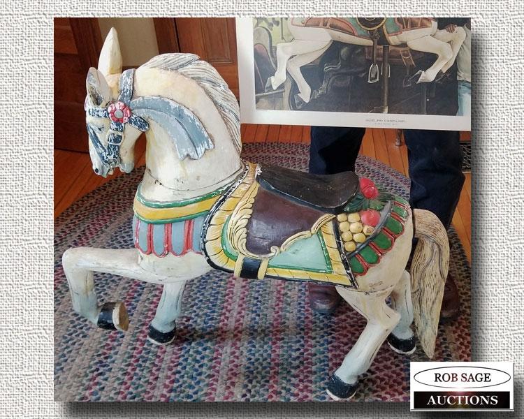 Wooden Carousel Horse