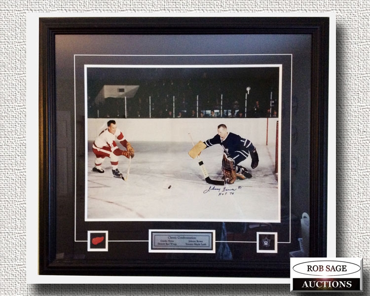 Gordie Howe-Johnny Bower