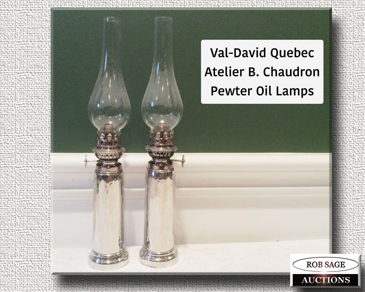 Pewter Lamps