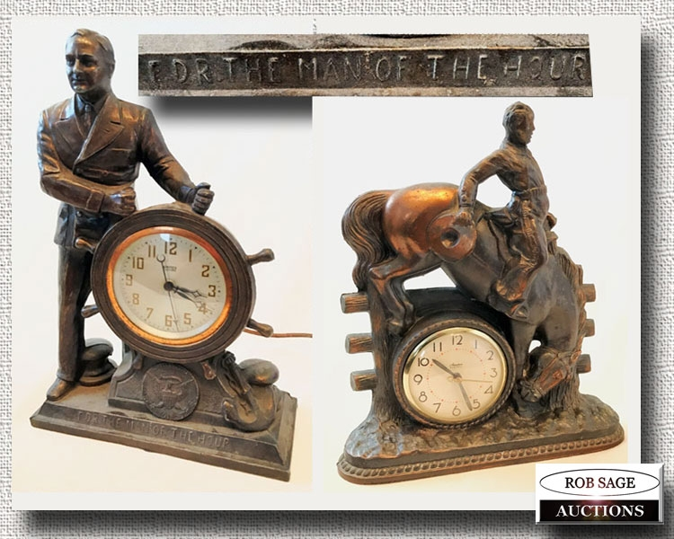 Cast Electric Clocks