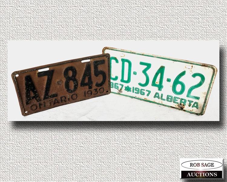 Single License Plates