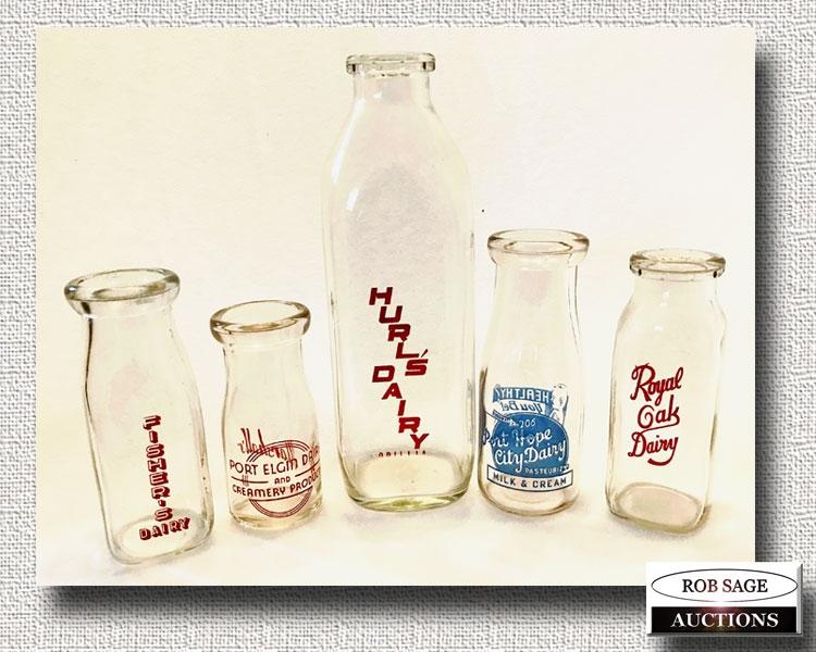Silkscreen Milk Bottles