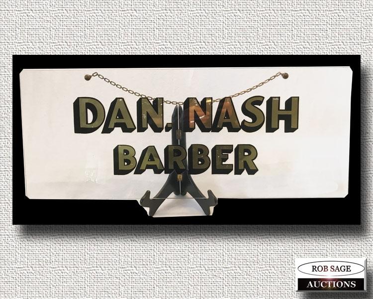 Glass Barber Sign