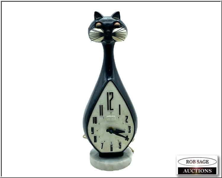 Blinking Eyes Cat Clock