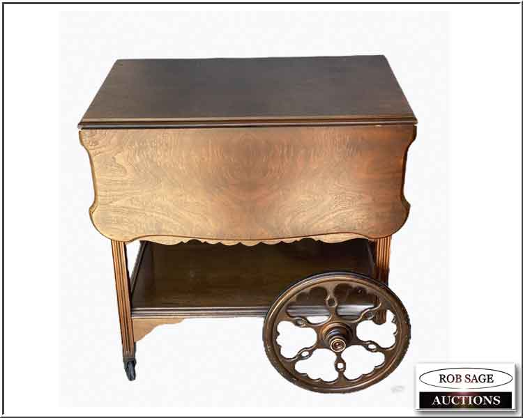 Walnut Tea Wagon