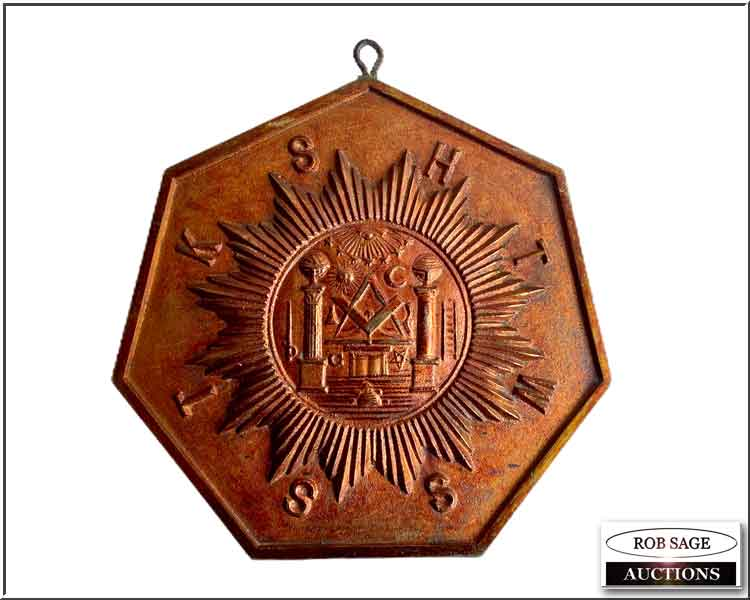 Brass Masonic Plaque