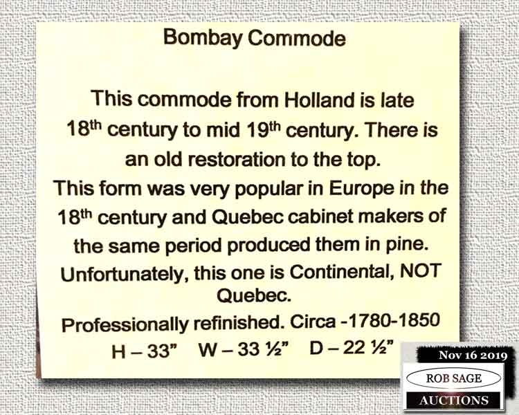 Bombay Commode Details