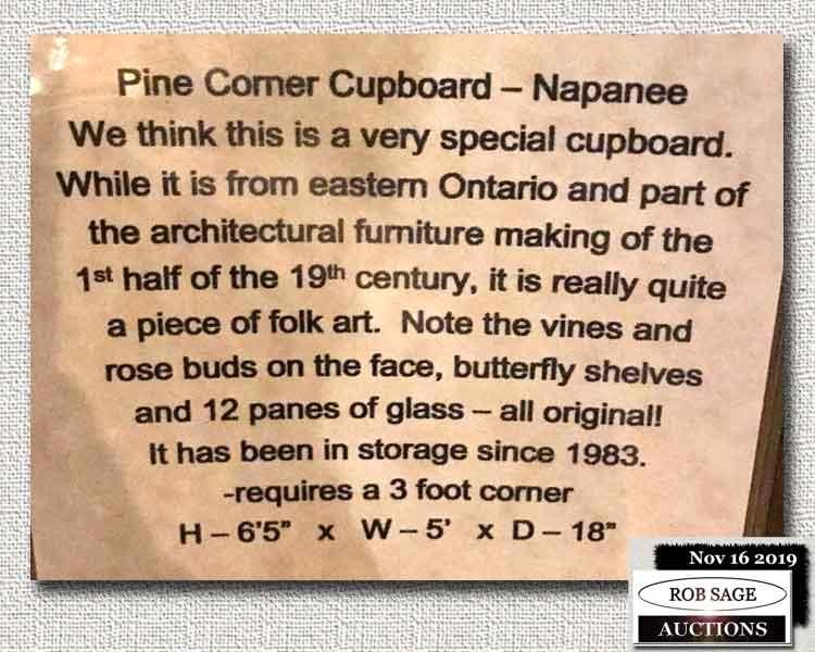 Corner Cupboard Details