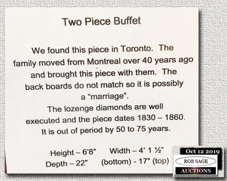 Buffet Details