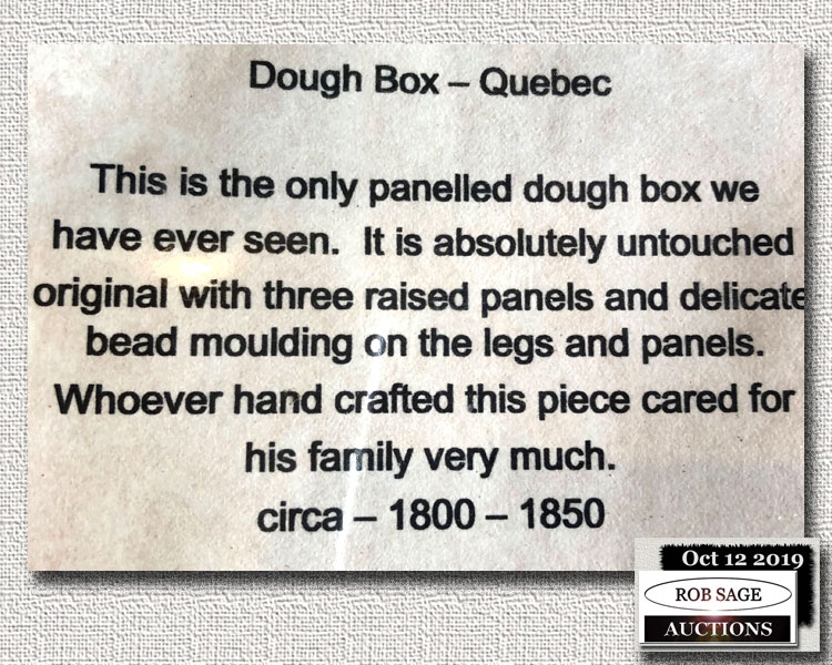 Dough Box Details
