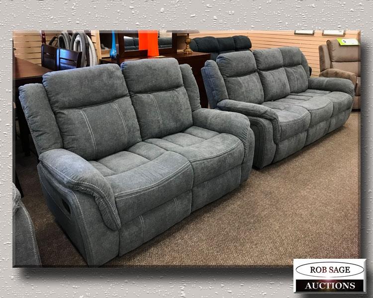 Fabric Reclining Sofa Set