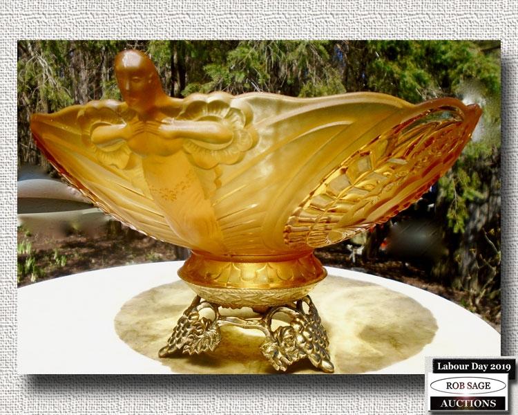 Figural Deco Bowl