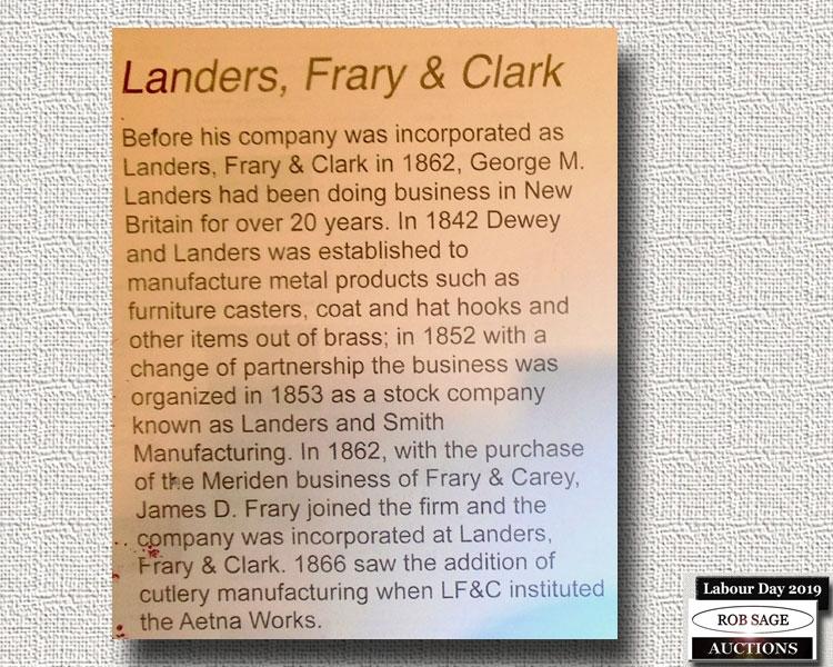 Landers, Frary & Clark Info