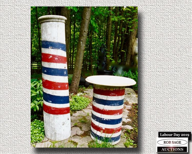 Barber Pole & Table
