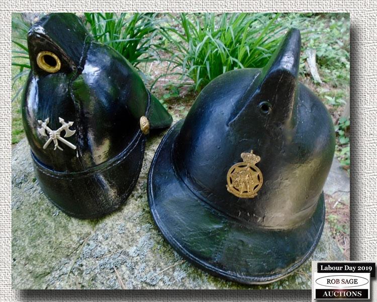 Early 1900's Fire Helmets