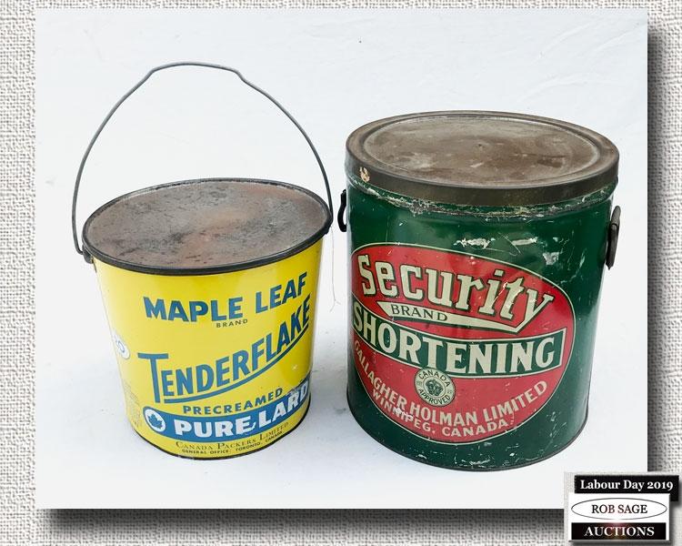 Lard & Shortening Tins