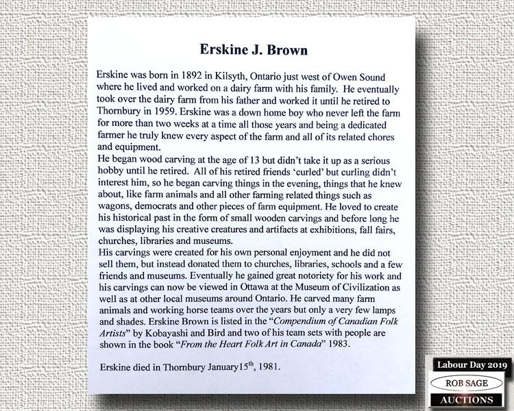 Erskine J Brown Bio