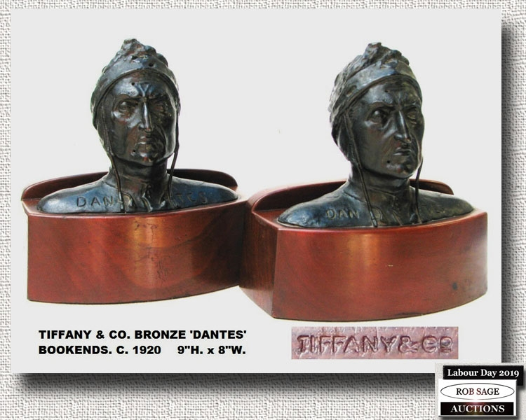 Tiffany & Co Bronze Bookends