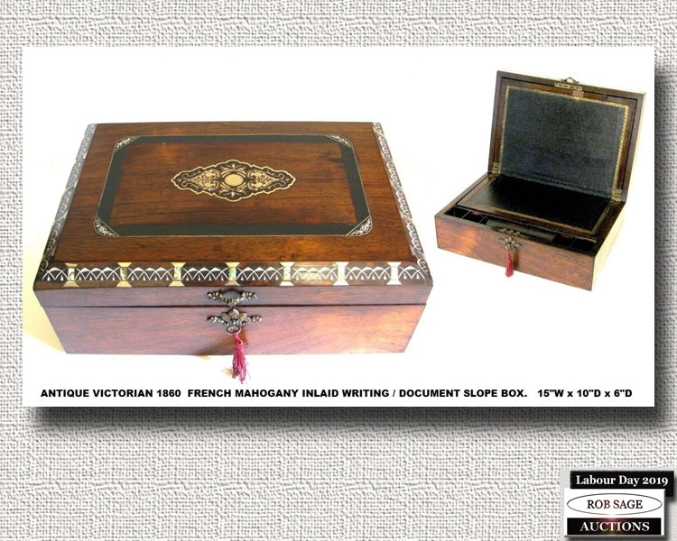 French Writing Box