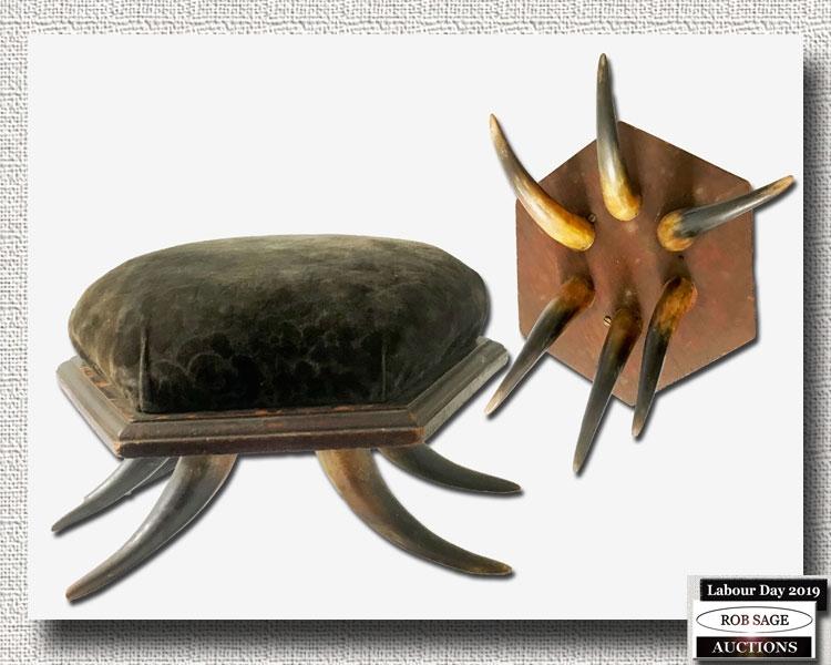 Horn Footstool