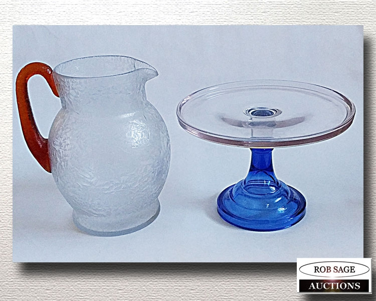 Water Pitcher & Cake Plate