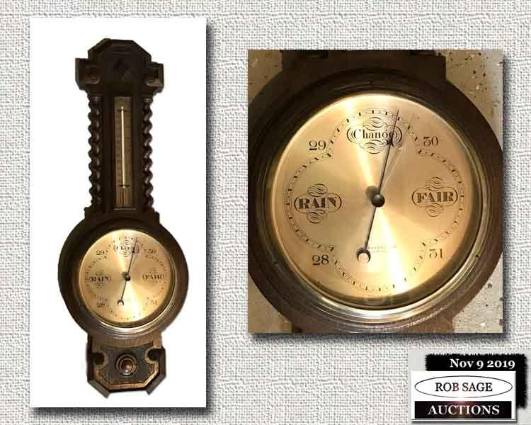 """32"""" Oak Barometer"""