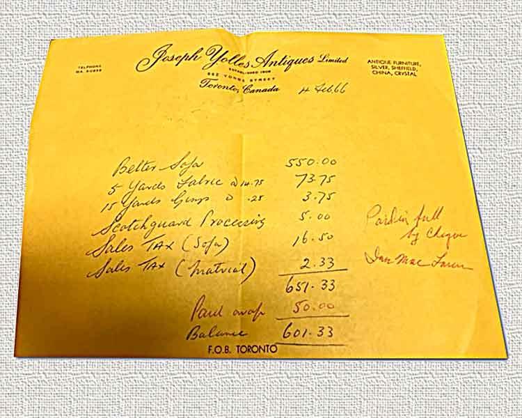 1966 Receipt