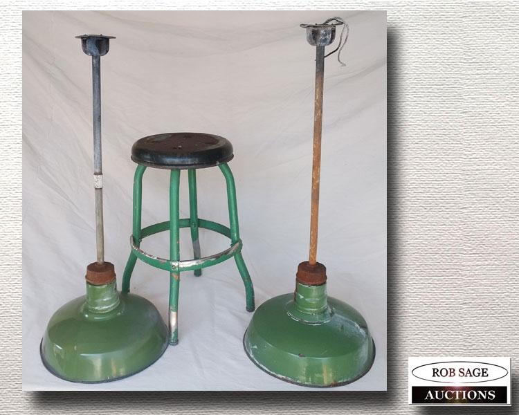 Stool & Lamps