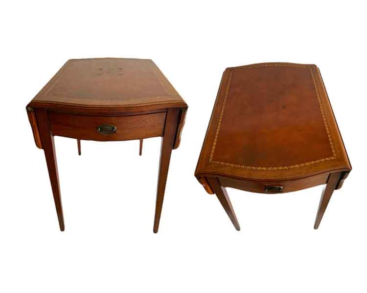 Leather Top End Tables