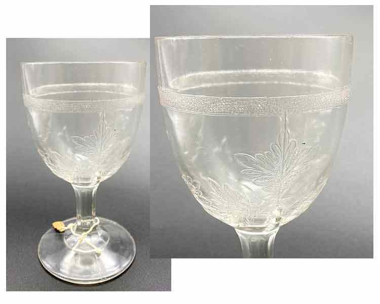 Pressed Glass Goblet