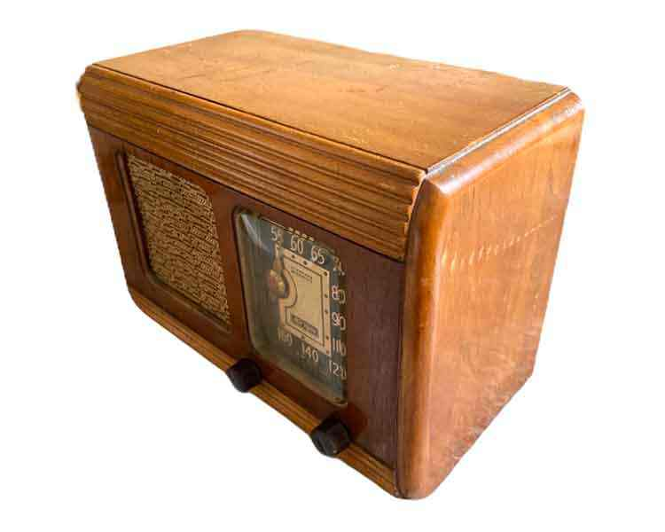 Wooden Case Radio