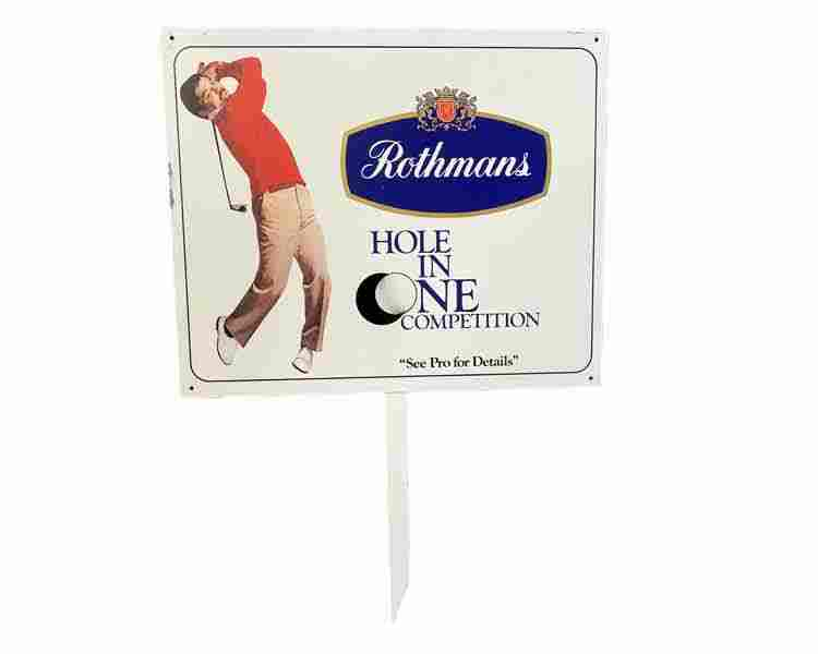 Metal Golf Sign