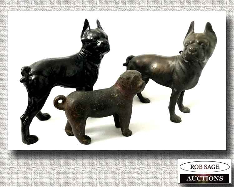 Antique Cast Dogs